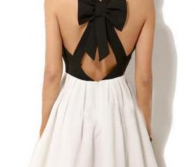 Sexy V-neck bow dress AX091412ax
