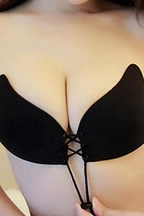 Sexy Gather Wing Invisible Brassiere Push Up Bra