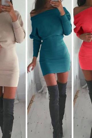 FASHION SEXY LONG SLEEVE DRESS