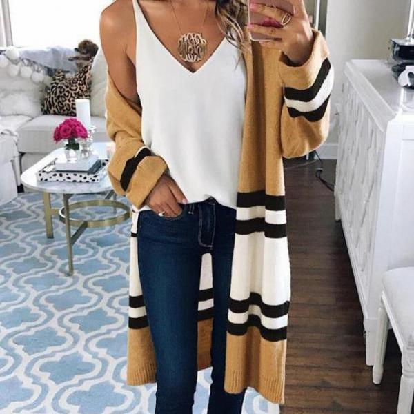Fashion Womens Knit Tops Jacket Coat