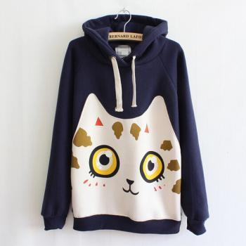 Cute kittens long-sleeved hooded sweater AX092911ax