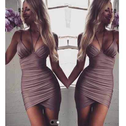 Sexy halter sleeveless dress